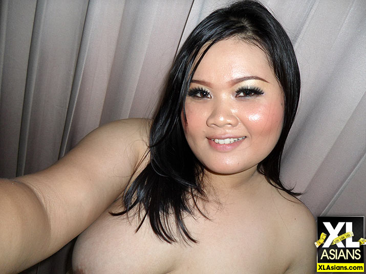 Plump Asian Jean takes dirty pictures of herself - Picture 1