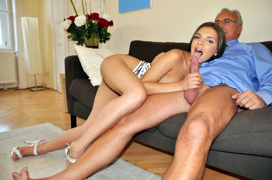 Skinny brunettes with old men my fav cuts from vids pt1 9