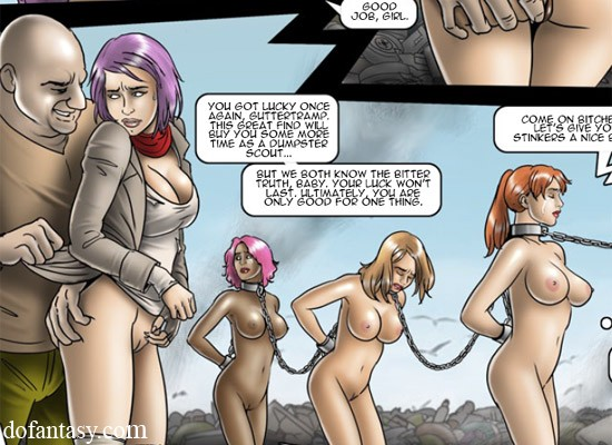 Cartoon enslaved girls seem to be in the bdsm - Cartoon Sex - Picture 1