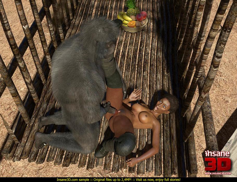 Самец гориллы трахает девушку фото