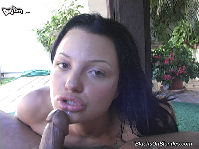 Strap welt on her bottom