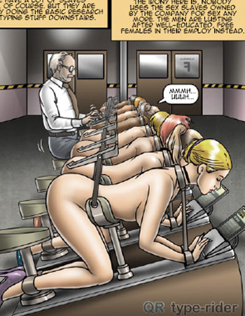 Gay cartoon of male slave training