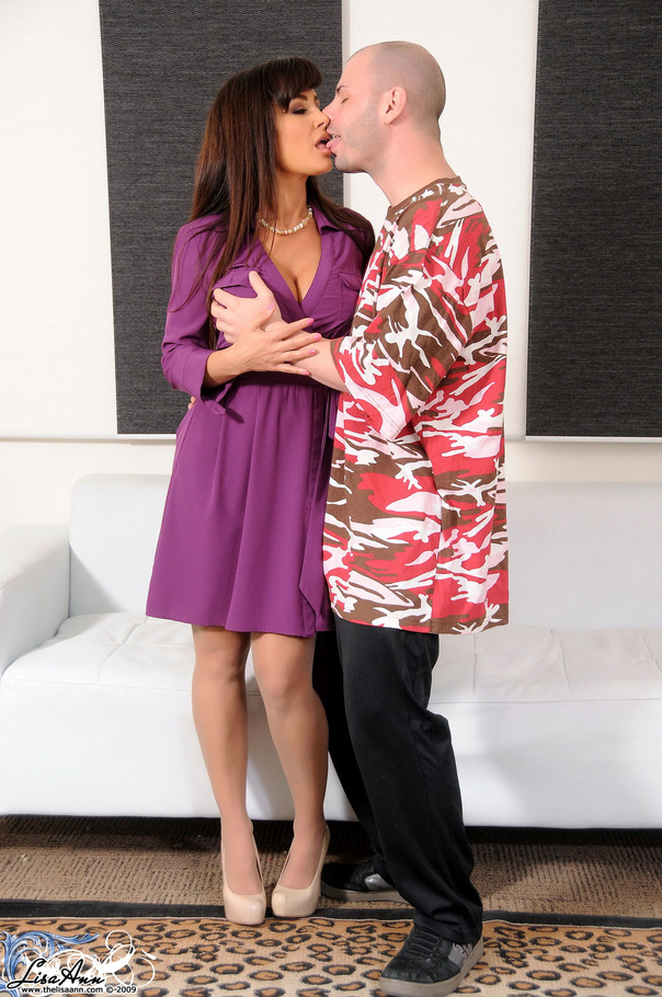 Purple dress milf!!