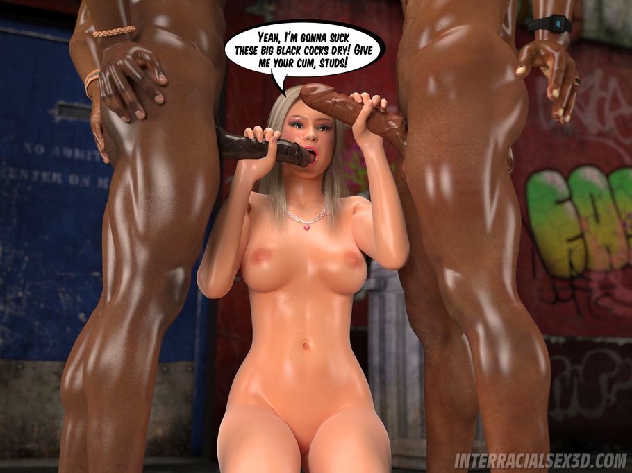 Your idea Interracial cartoon blacks blonde