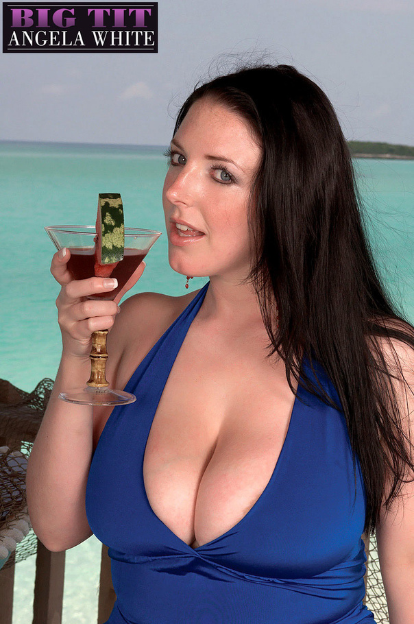 Fat chick drinking punch then licks a slice of - Picture 4