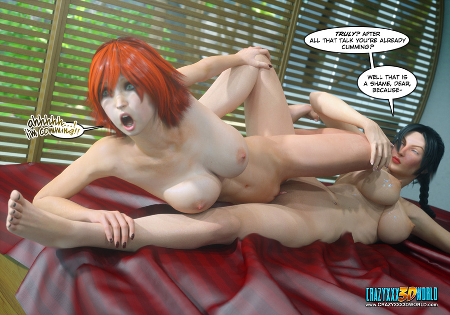 and porn Redheads brunettes lesbian