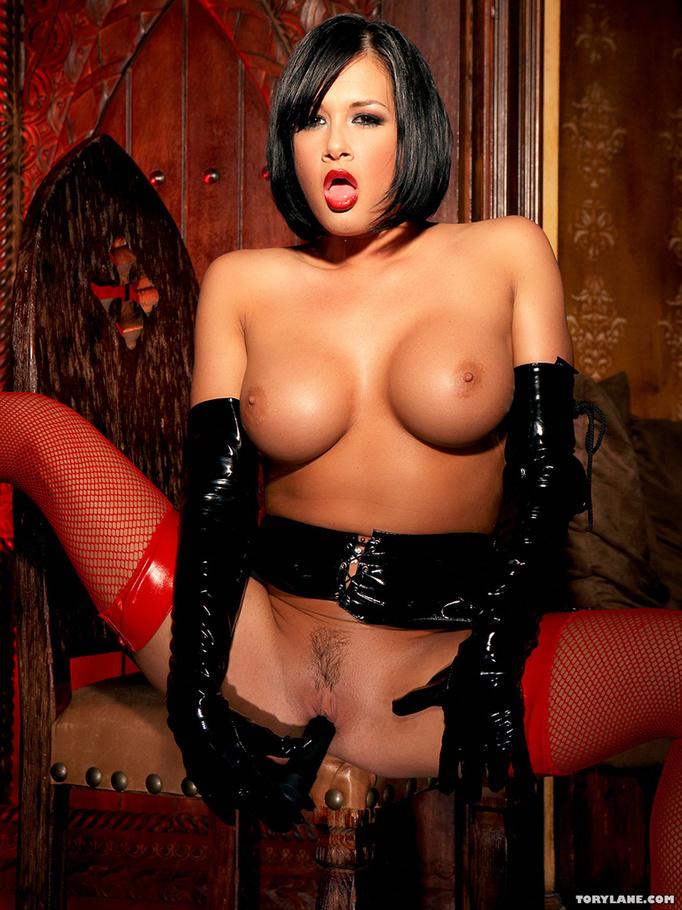 latex lingerie Black