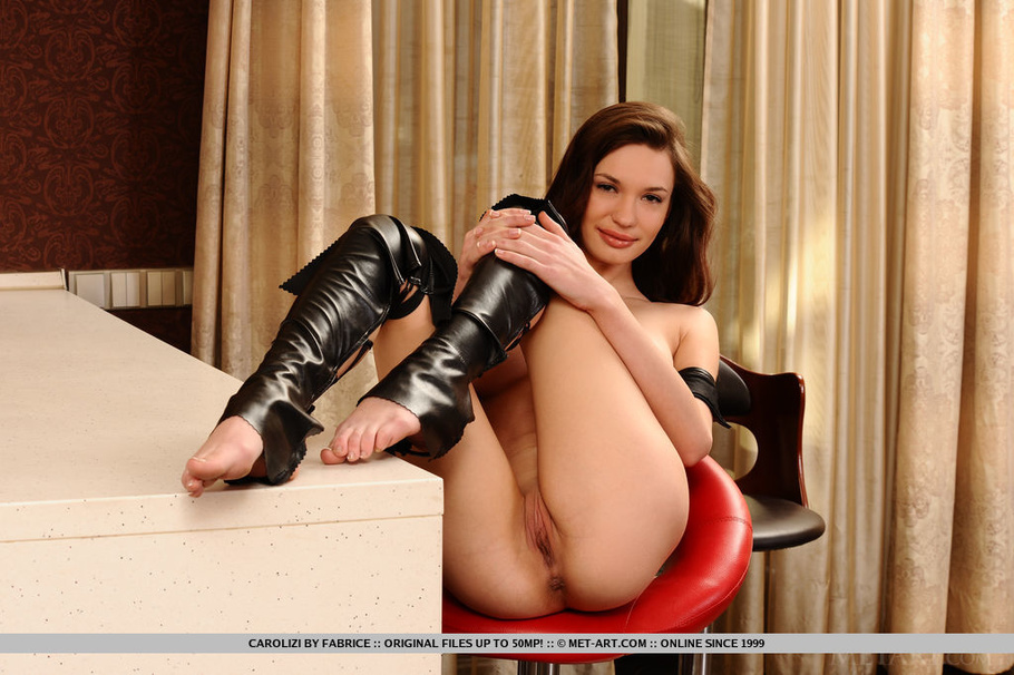 jolie has a dildo stuck in her pussy