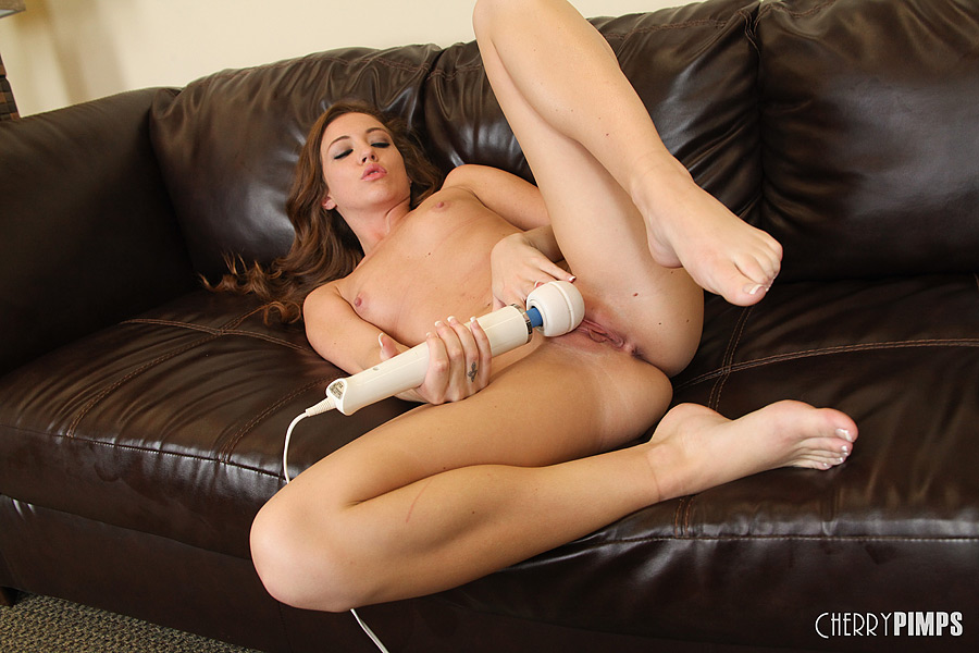 Huge dildo slammed in ass