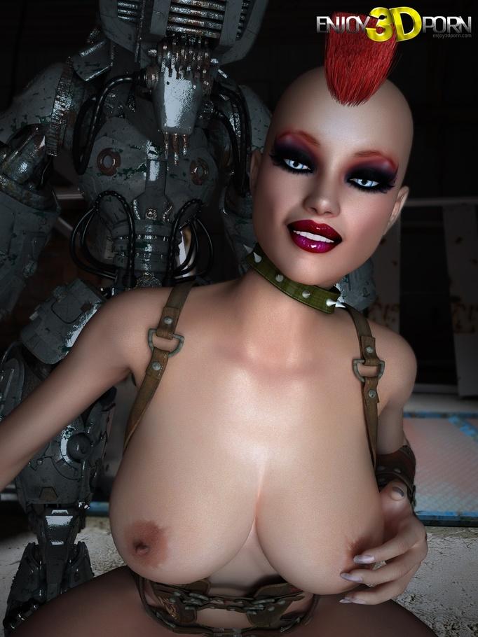 3d robot porn
