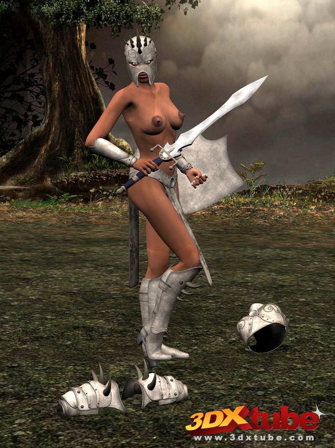 fucks her girlfriend with a sword hilt