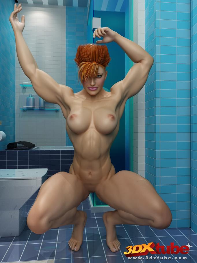 naked girls on bathroom floor