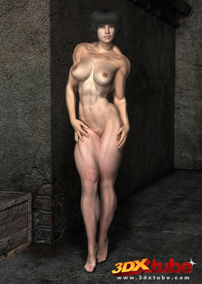 Ripped Ladies Get Naked Naked And Lies On The Floor Picture 5