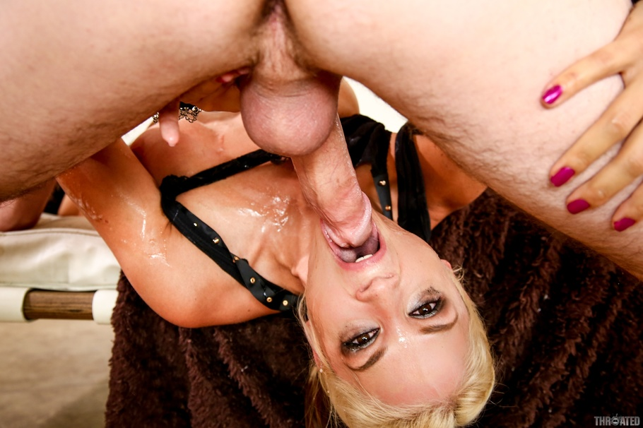 Blonde forced interracial