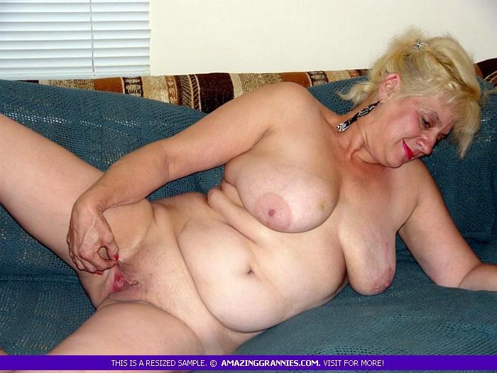 Naked posing photos granny Plump