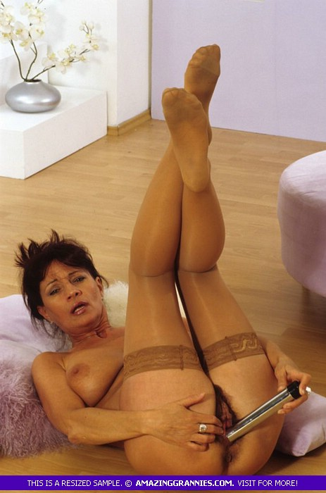 stockings Granny brown