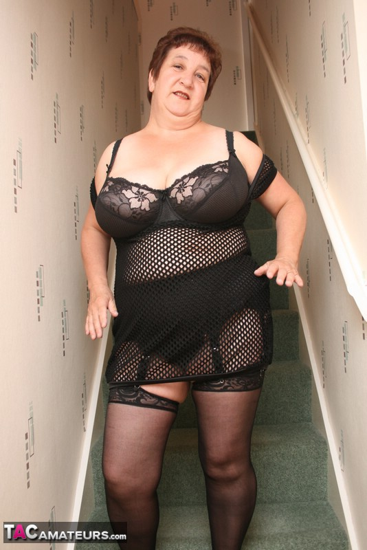 Grannies girdles stockings can
