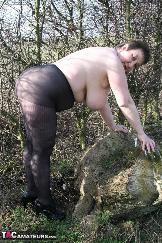 Naked bbw in forest think