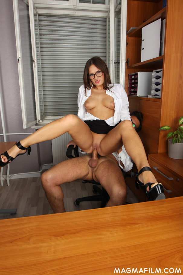 Breasty secretary gives her boss a footjob before fucking with him -  XXXonXXX - Pic 7