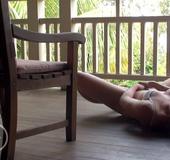 Slim Australian 18 yo Estelle rubbing her lovehole…