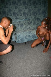 Hot black teen Bunny seduced a black camera man on her first photo sho.. - picture 6