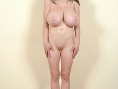 Totally naked with sweet twat and big tits going wild - Picture 1