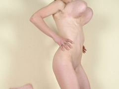 Totally naked with sweet twat and big tits going wild - Picture 5