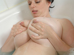 Chubby brunette babe with heavy melons and tight pussy - Picture 9