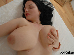 Heavy tits sex hungry hottie playing with her breast and - Picture 8