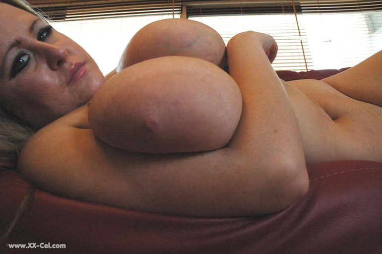 Lusty blonde plumper undressing and playing with her big - Picture 12