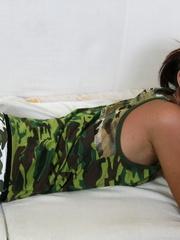 Petite Jana drops her panties and spreads the lips - XXXonXXX - Pic 3