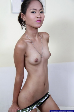 Petite Jana drops her panties and spreads the lips of her hairless pussy - XXXonXXX - Pic 7