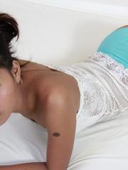 18 year old Jana spreads wide to flash her tight - XXXonXXX - Pic 2