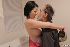 Dirty old man fucking a stupid young - XXX Dessert - Picture 4