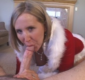 Naughty Blonde Wife Sucks a Big Cock