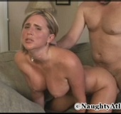 Sexy blonde milf wife gets fucked hard