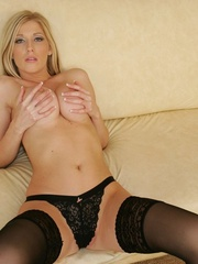 Busty blonde babe shows her - XXX Dessert - Picture 9