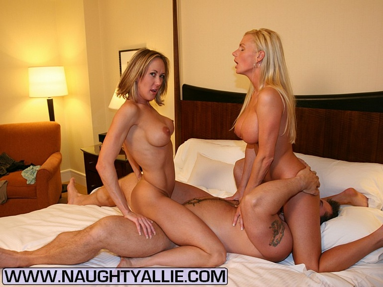 two hard cocks for allie