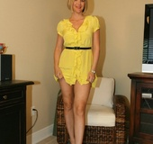 Naughty Wife in Yellow Dress
