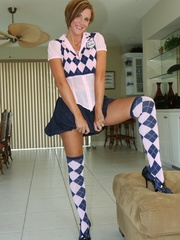Sexy wife in naughty school girl outfit - XXX Dessert - Picture 4