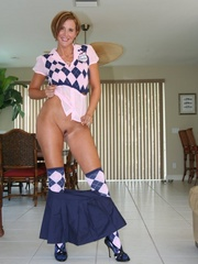 Sexy wife in naughty school girl outfit - XXX Dessert - Picture 6