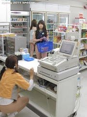 Teen Japanese shop assistants in the supermarket - XXXonXXX - Pic 1