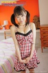 Pigtailed Japanese teen slut in checked baby-doll…