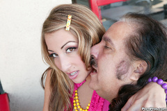 Cute latina teen makes Ron Jeremy - XXX Dessert - Picture 1
