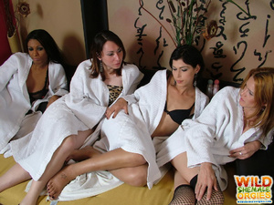 Sexy shemales give each other massages - XXX Dessert - Picture 1