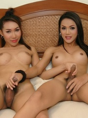 Two Asian ladyboys make out and get each - XXX Dessert - Picture 10