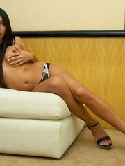 Well hung, big titted ladyboy shows off - XXX Dessert - Picture 7