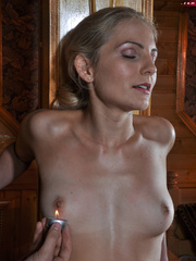 Little blonde enslaved hottie taking rough punishment - Picture 5