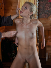 Little blonde enslaved hottie taking rough punishment - Picture 6