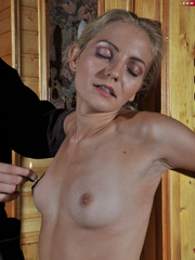 Little blonde enslaved hottie taking rough punishment - Picture 7